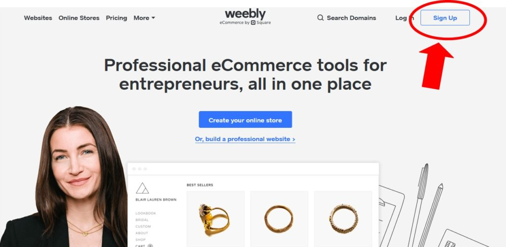 Sign Up To Weebly Free Website