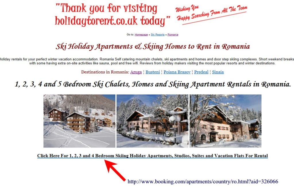 Holiday to Rent Website