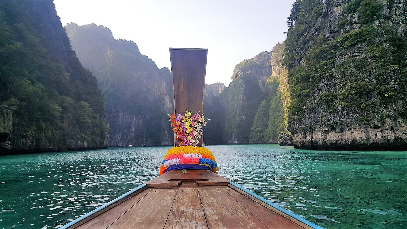 Longtail Boat Ride To Maya Bay