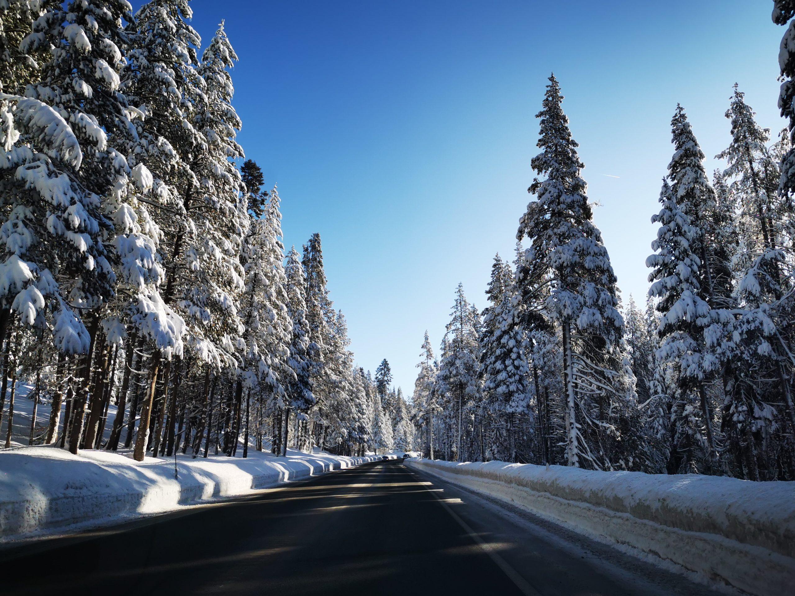 Winter Drive to Lake Tahoe