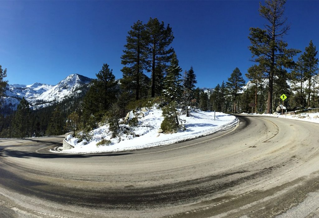 The scenic drive towards Emerald Bay