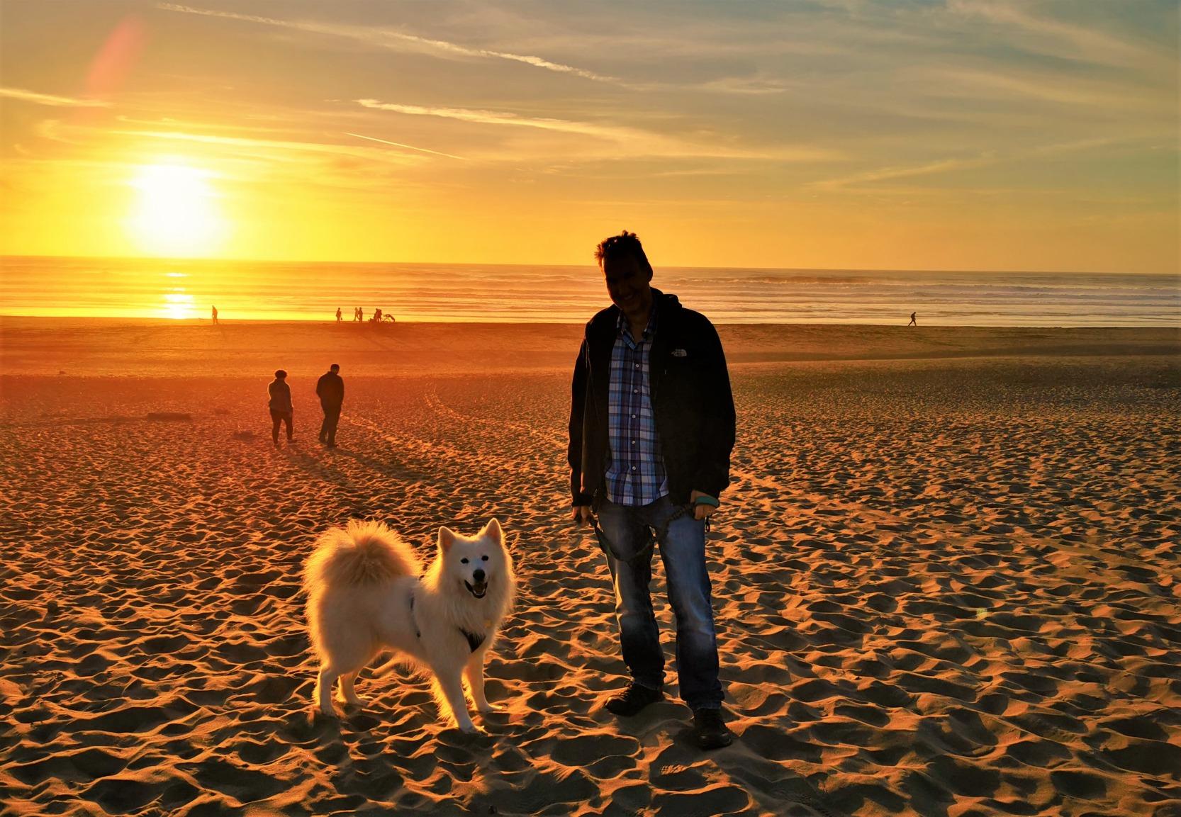 Mookie at the Beach