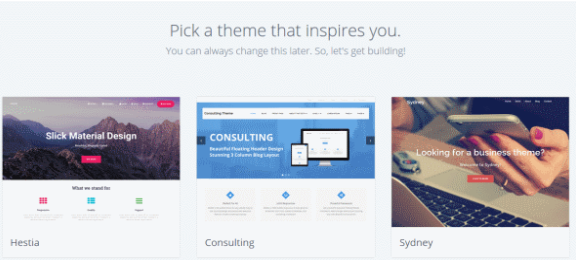 Choosing a blog theme