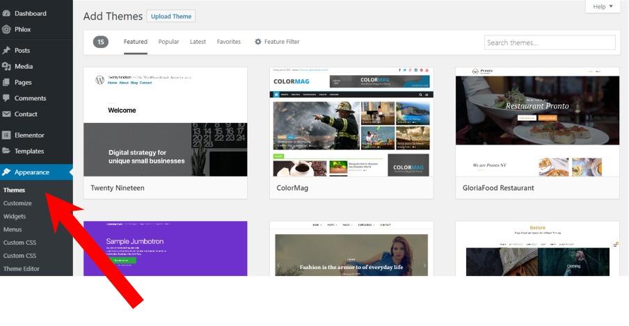 Choose a blog theme